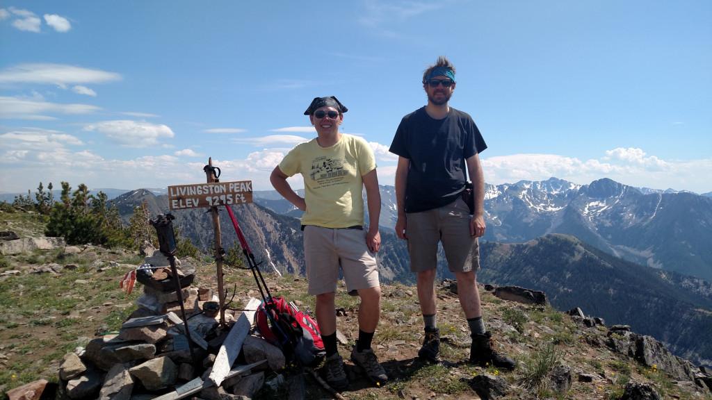 The summit. The vast Absaroka-Beartooth Wilderness in the background.