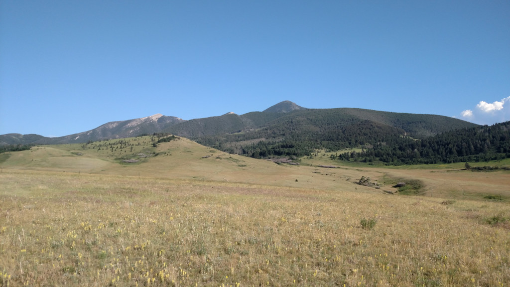 Another view of Livingston Peak on the way out.