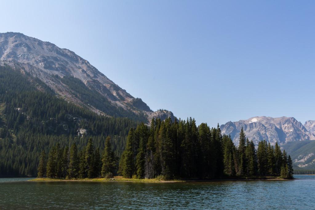 The Island Lake island.