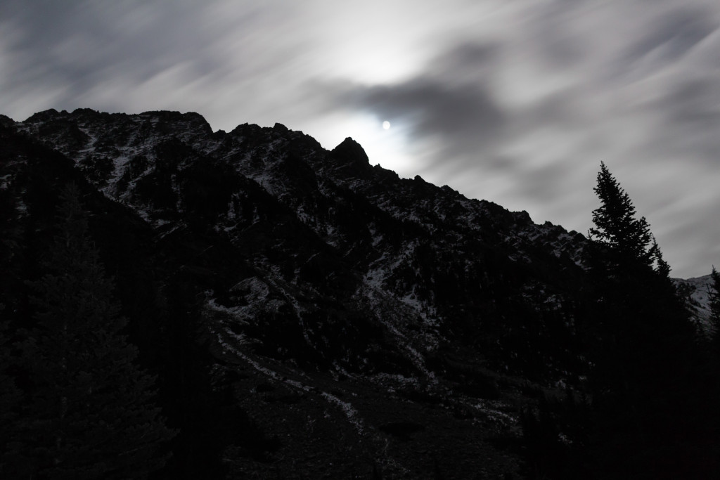 It was incredible to witness the full moon rise above the ridge.