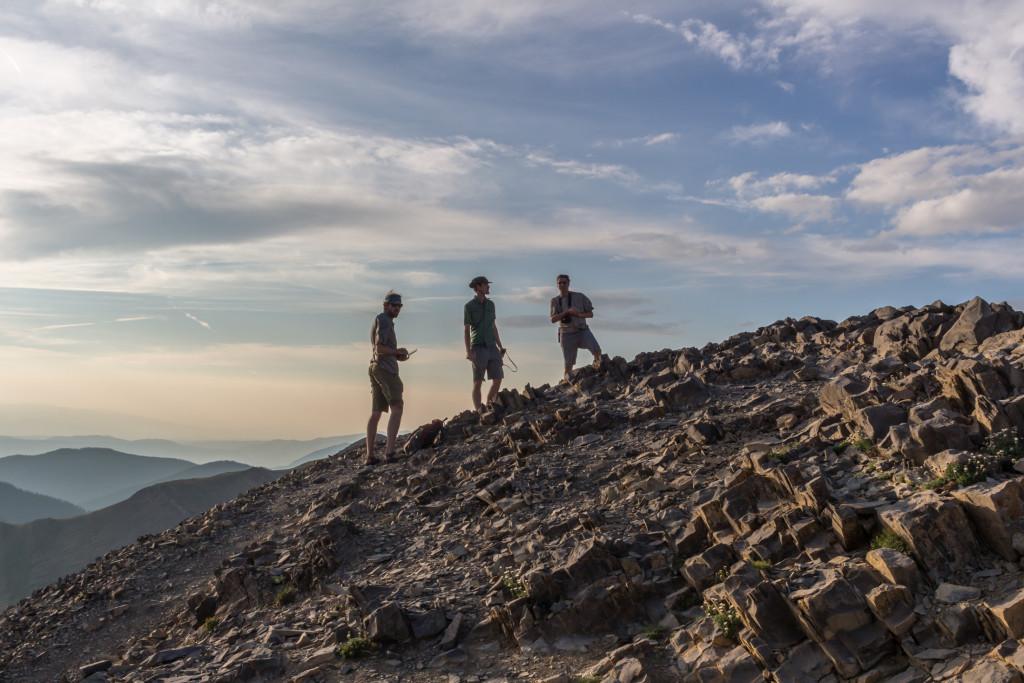 Ryan, Christian, and Arlo at the summit.