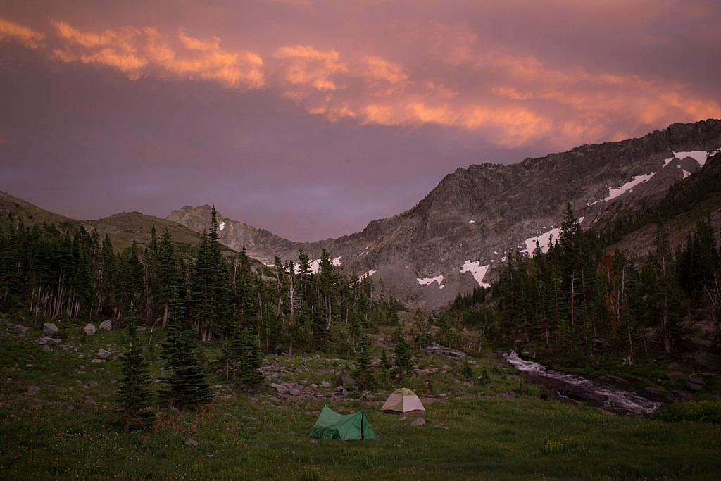 An epic camping spot was eventually found. A beautiful sunset brought a wonderful close to the day.