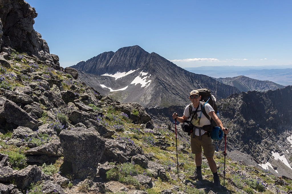 Me atop the saddle. Wilsall Peak in the background.