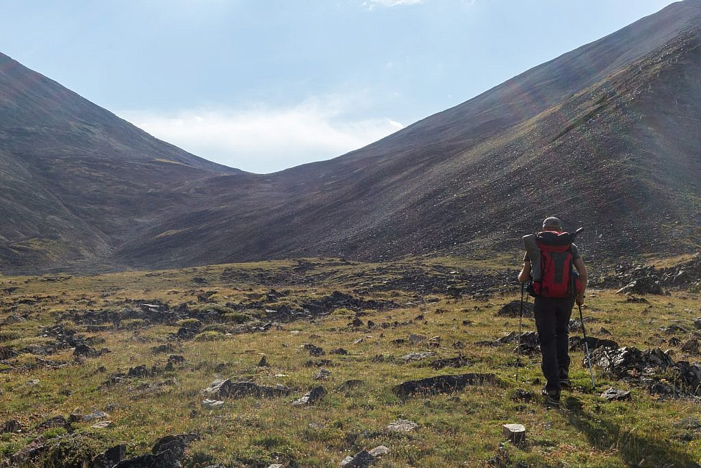 As evening approached Dan and I began trekking up the saddle hoping to glimpse some goats on the other side.