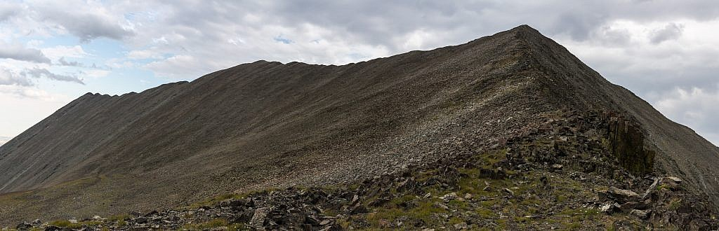 The ridge to the south of the saddle. The middle high point is Fairview Peak. Also looks like an easy climb.