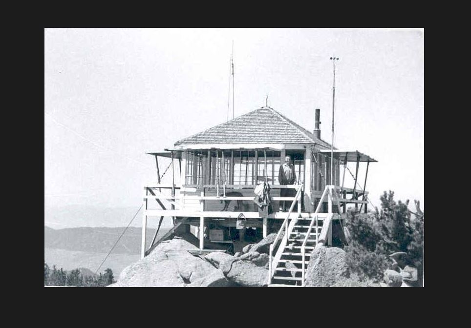 A picture of the old fire lookout. Source: http://www.nrtdatabase.org/trailDetail.php?recordID=406#five