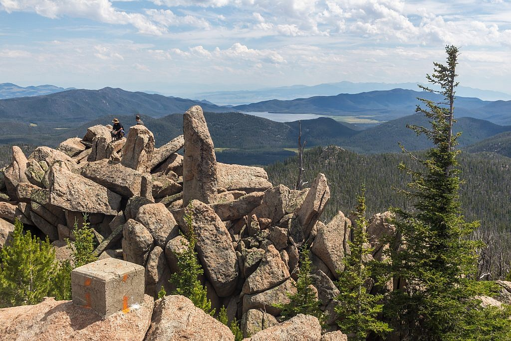 Looking southeast from the summit. Whitetail Reservoir in the distance.