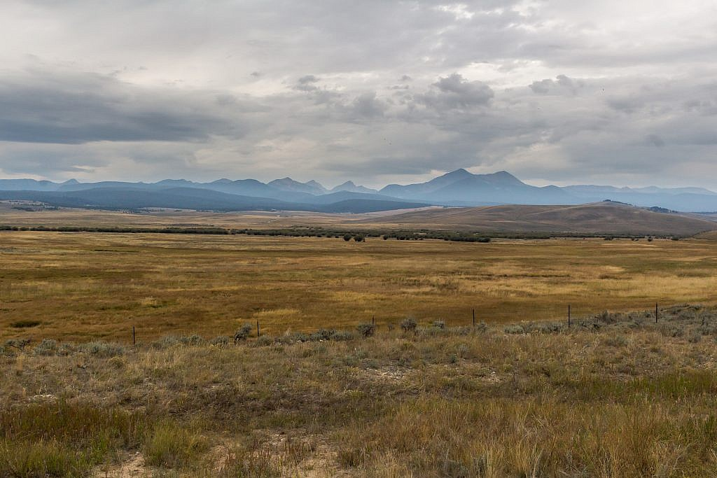 The inspirational view I got of the Anacondas from Highway 43 near Wisdom, MT. West Goat Peak is the obvious highpoint.