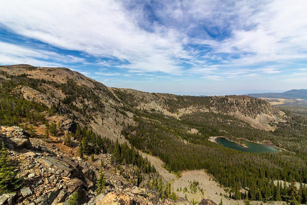 Hidden Lake. Elkhorn Peak on the left.