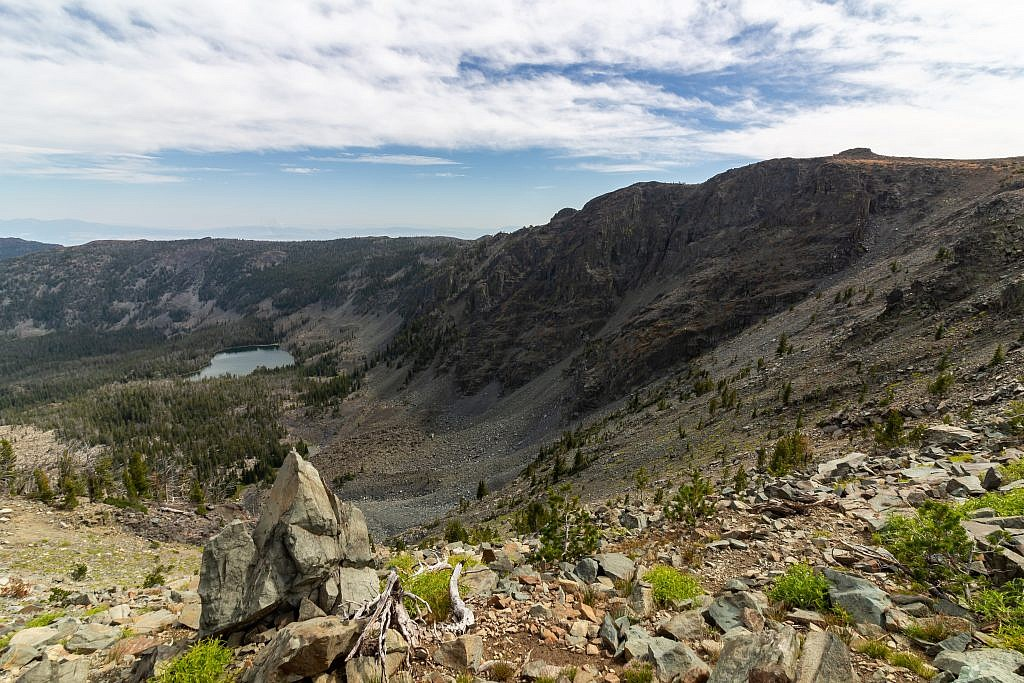 Glenwood Lake. I took a slight detour to visit the rock outcropping on the far right.
