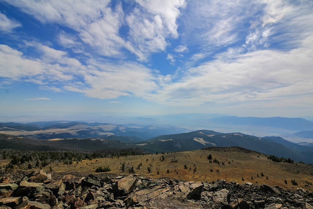 Looking southwest from the summit of Crow Peak.
