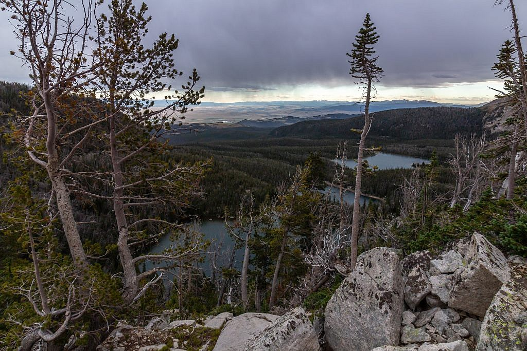From left to right: Skytop Lake, Deep Lake, and Hollowtop Lake.