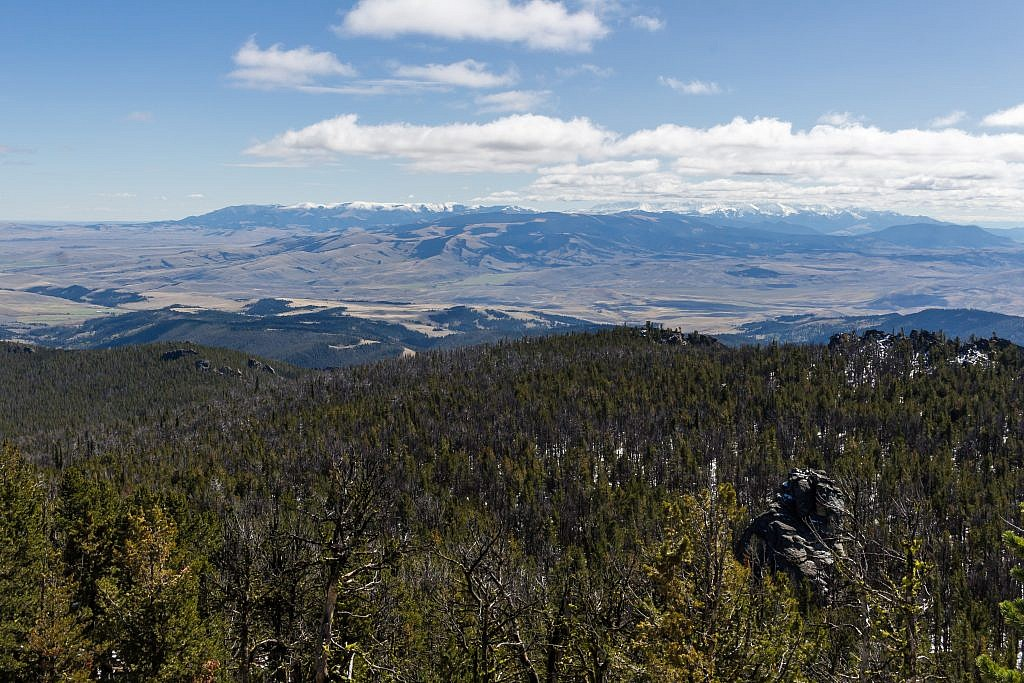 Looking southeast from the summit towards the Crazies.