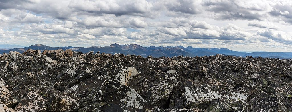 Looking towards the East Pioneers from the summit.