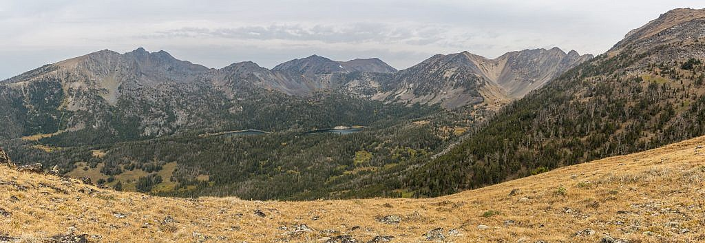View of the Branham Lakes Basin on my way up Lady of the Lake Peak in 2018.