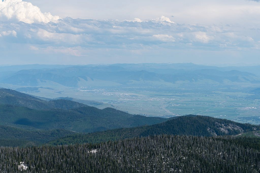 Looking southeast towards Missoula.