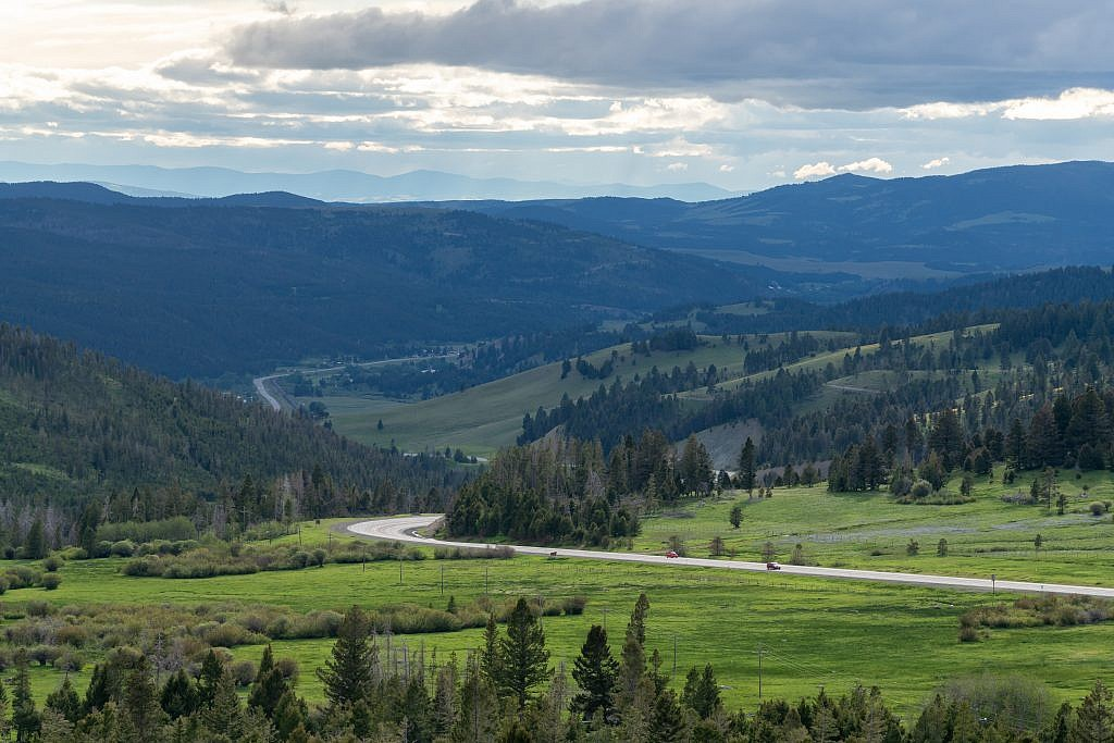 Looking west from the top of MacDonald Pass.