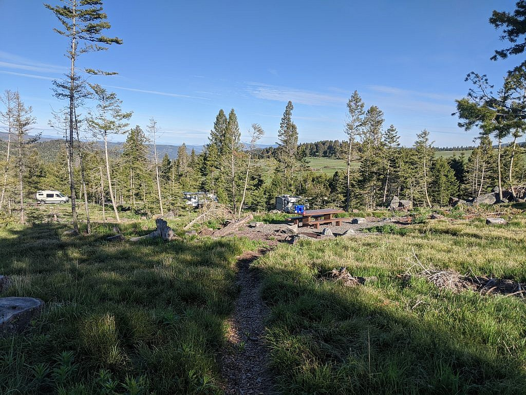 My campsite at the Cromwell Dixon Campground.