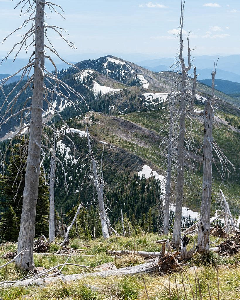 Penrose Peak would be a moderately difficult side quest. It looks like you can simply follow the ridge south to the summit.
