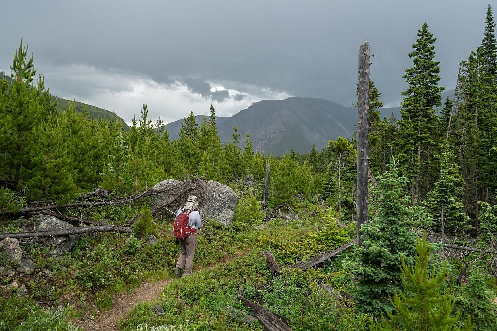 Getting close to the trailhead. The storm had passed by this point.