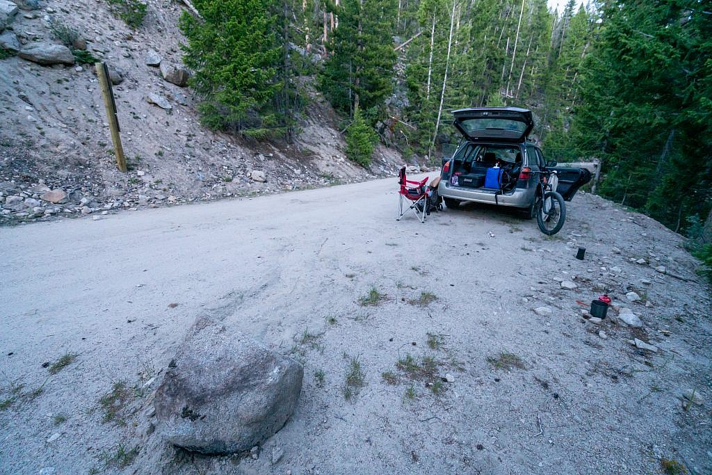 My campsite near the start of the unimproved road.
